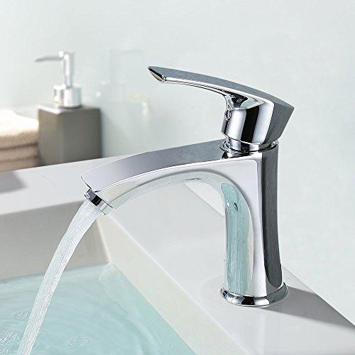 Auralum Chrom Wasserhahn Waschtisch Einhebel