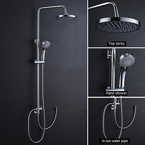duschset ohne wasserhahn duscharmatur regendusche. Black Bedroom Furniture Sets. Home Design Ideas