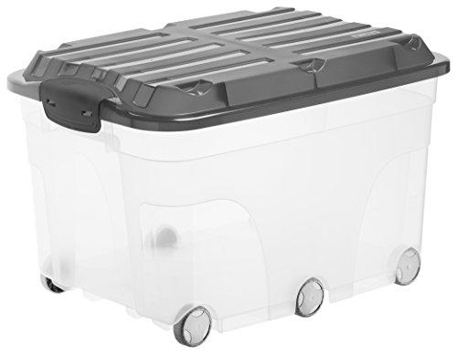 rotho 1767708812 aufbewahrungskiste compact mit deckel lager box aus kunststoff im din a3. Black Bedroom Furniture Sets. Home Design Ideas