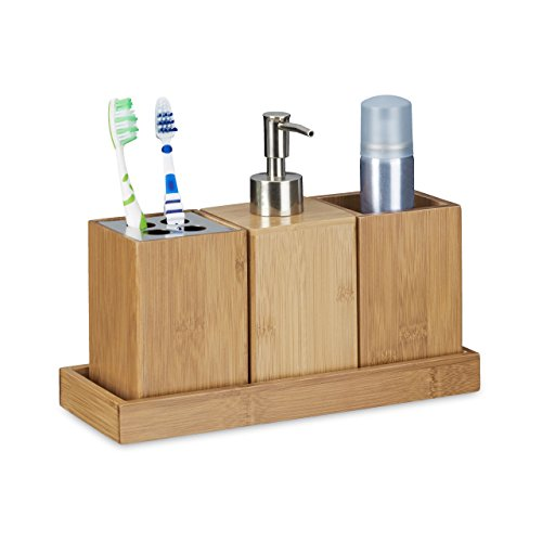relaxdays fu bank rustico aus bambus hocker f r kinder tritthocker klein hbt ca 27 x 29 x. Black Bedroom Furniture Sets. Home Design Ideas